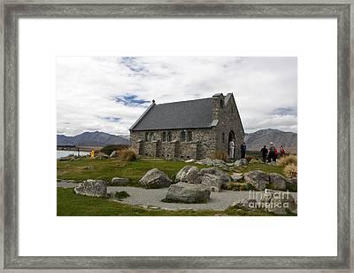 Church Of The Good Shepherd Lake Tekapo New Zealand Framed Print by Jason O Watson