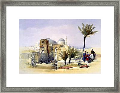 Church Of The Holy Sepulchre In Jerusalem Framed Print