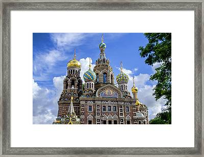 Church Of The Spilled Blood - St Petersburg Russia Framed Print