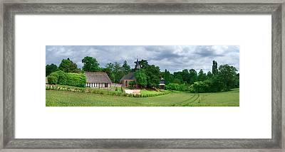 Church Of The Village Of Colletot Framed Print