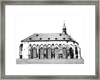 Church Of The Virgin Mary Of Snow Framed Print by Michal Boubin