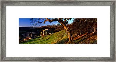 Church On A Landscape, Rievaulx Abbey Framed Print