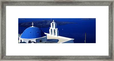 Church On An Island, Agios Theodoros Framed Print by Panoramic Images