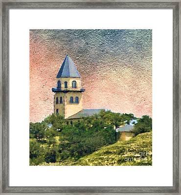 Church On Hill Framed Print by Janette Boyd