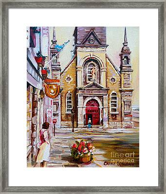 Church On Sunday Framed Print by Carole Spandau