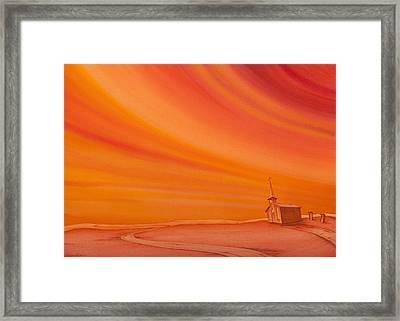 Church On The Edge Framed Print by Scott Kirby