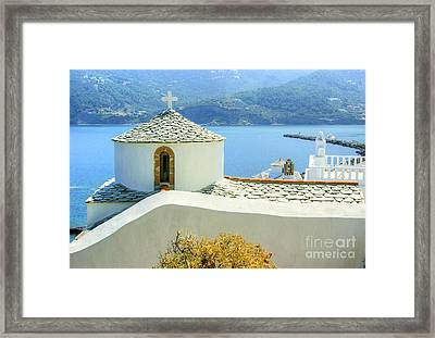 Church On The Hill Framed Print by David Birchall