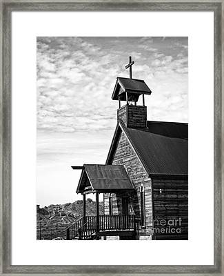 Church On The Mount In Black And White Framed Print by Lee Craig