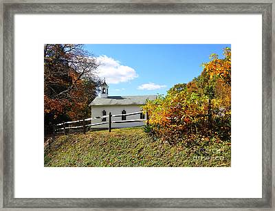 Church On The Mountain Framed Print by Thomas R Fletcher