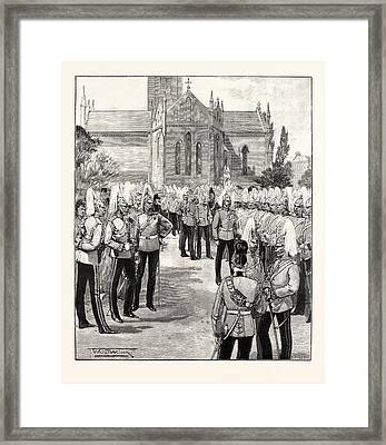 Church Parade Of The Household Cavalry At Windsor Uk Framed Print