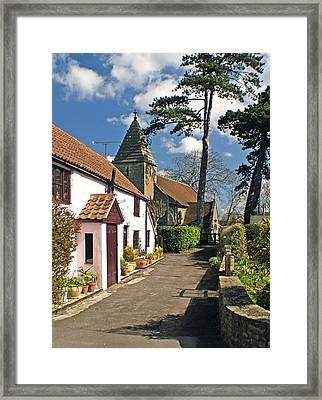Church Path - Kenn - Somerset Framed Print by Rachel Down