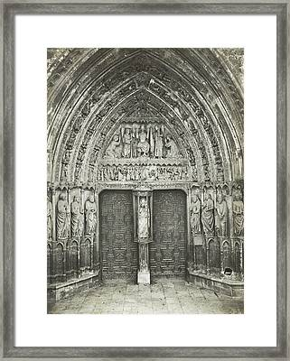 Church Portal With Sculptures, Anonymous Framed Print by Artokoloro