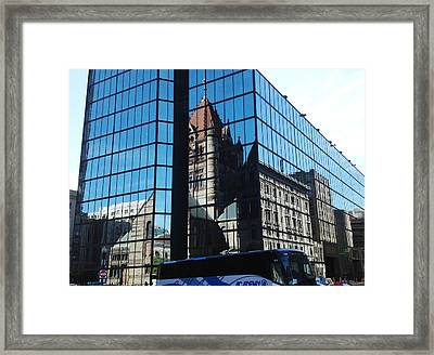 Church Reflection Boston Framed Print