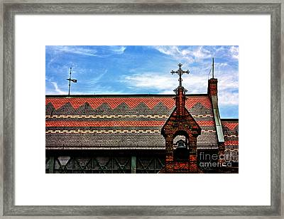 Church Roof With Cross Framed Print by Nishanth Gopinathan