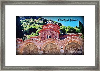 Church Ruins In Greece Framed Print by John Malone