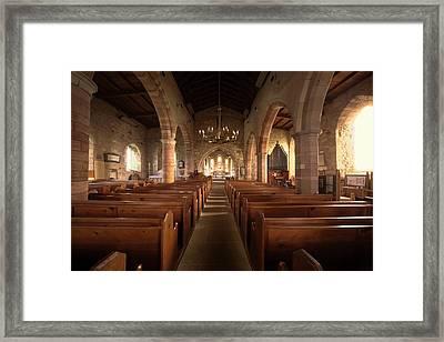 Church Sanctuary, Holy Island, Bewick Framed Print