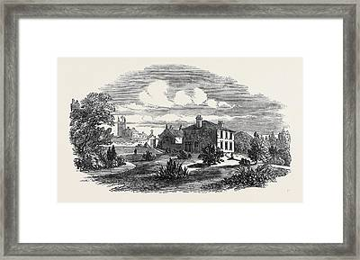 Church, Schools, And Vicarage Of St Framed Print by English School