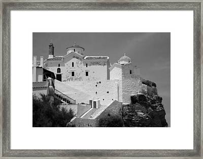 The Church Of Panagia Tou Pyrgou Framed Print by Clive Beake
