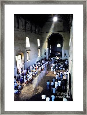 Church Service  Framed Print by Ladi  Kirn