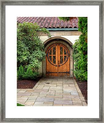 Church Side Door Framed Print by Chris Anderson