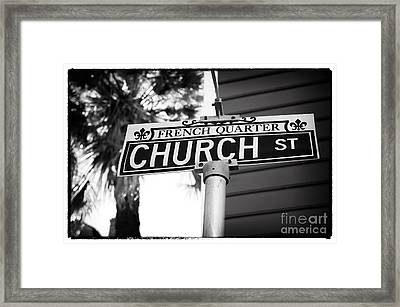 Church St Framed Print