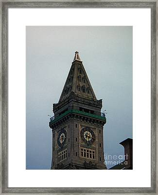 Framed Print featuring the photograph Church Steeple In Boston by Gena Weiser