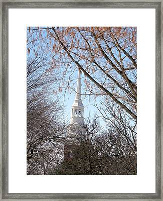 Church Steeple Framed Print by Teresa Schomig