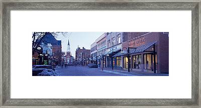 Church Street, Burlington Vermont, Usa Framed Print