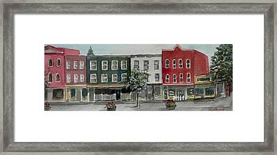 Pennsylvania - Church Street In Montrose Framed Print
