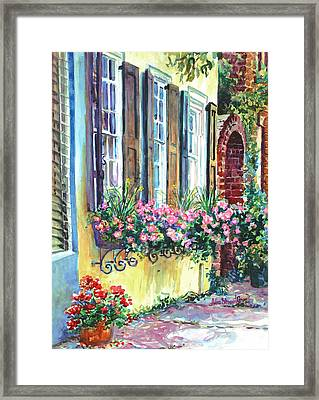 Church Street Textures Framed Print by Alice Grimsley