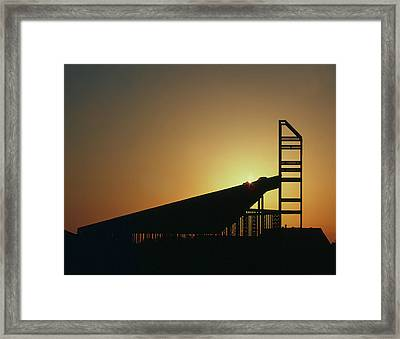 Church Structure At Sunrise Framed Print