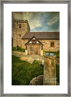 Church Sundial 1806 Framed Print by Adrian Evans