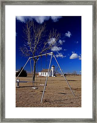 Church Swings Framed Print by Christopher McKenzie