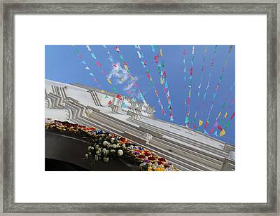 Church Temalacatzingo Mexico Framed Print by Linda Queally