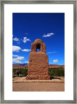 Church Tower Framed Print by FireFlux Studios