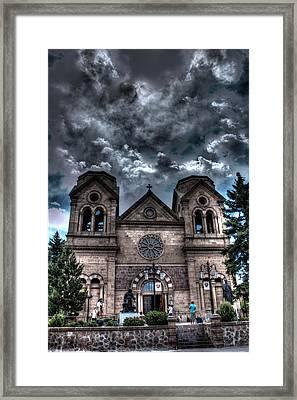 Church Under An Angry Sky Framed Print
