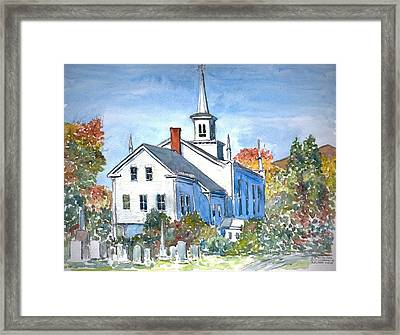 Church Vermont Framed Print by Anthony Butera
