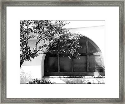 Spanish Window Framed Print