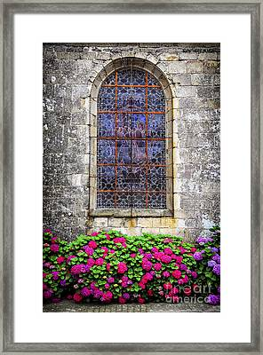 Church Window In Brittany Framed Print