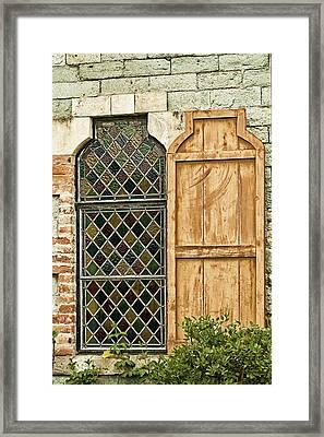 Framed Print featuring the photograph Church Window - Liberia Antigua by Gary Slawsky