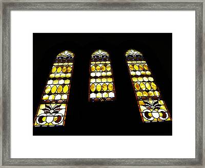 Church Windows Framed Print by Image Takers Photography LLC - Laura Morgan