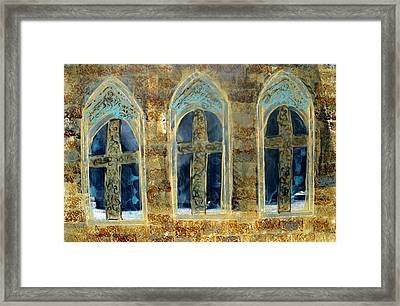 Church Windows Framed Print by Lesley Fletcher