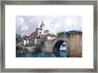 Church With A Bridge Framed Print