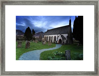 Church With Cemetery, Lake District Framed Print