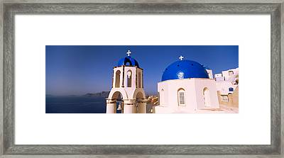 Church With Sea In The Background Framed Print by Panoramic Images