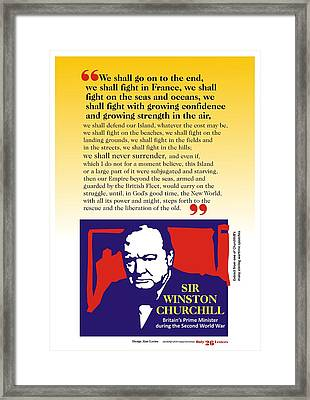 Churchill War Speech 1 Framed Print by Alan Levine