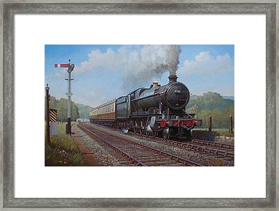 Churchward 2.8.0  Framed Print by Mike  Jeffries