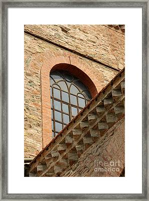 Churchwindow And Stonerow Framed Print by Christiane Schulze Art And Photography