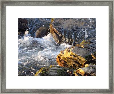 Churning Little Waterfalls On The Watauga Framed Print