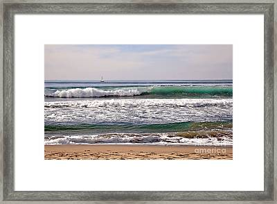 Churning Surf At Monterey Bay Framed Print by Susan Wiedmann